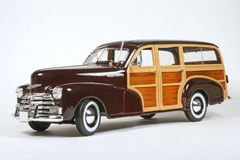Chevrolet Fleetmaster 1948. 1948 Chevrolet Fleetmaster (Woody), Maisto, 1:18 scale diecast model, image 1 Royalty Free Stock Images