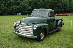 1948 Chevrolet furgonetki Zielona ciężarówka Obrazy Royalty Free