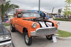 Chevrolet 210 Gasser 1953 auf Anzeige Stockfotos