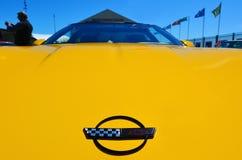 Chevrolet-het Korvet in een openbare auto van de spierauto's van de V.S. V8 toont Royalty-vrije Stock Afbeelding