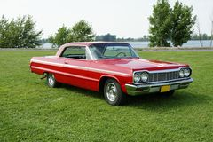 Chevrolet Impala. Picture of the red 1964 chevrolet impala ss Royalty Free Stock Photos