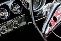1961 Chevrolet Impala dash. 1961 blue Chevrolet Impala dash and steering wheel Stock Images