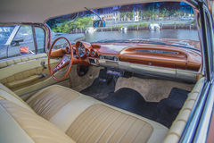 Chevrolet impala 1960, dashboard. The picture is shot at the fish market in Halden, Norway Stock Photo