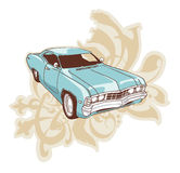 Chevrolet Impala Lowrider. 1967 Chevrolet Impala Lowrider. The muscle car over the ornament with floral motifs Stock Image