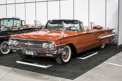 Chevrolet impala. Montreal october 10-12, 2014 picture of rare red chevrolet impala convertible in display during the autorama event Royalty Free Stock Photos