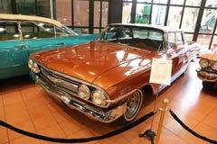 1960 Chevrolet Impala Sport Sedan. ISTANBUL, TURKEY - JULY 29, 2016: 1960 Chevrolet Impala Sport Sedan in Rahmi M. Koc Industrial Museum. Koc museum has one of Stock Image
