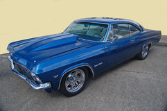 1966 Chevrolet Impala Supersport. Blue 1966 Chevrolet Impala Supersport classic American musclecar Stock Photos