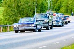 Chevrolet-impalablauw 1963 Royalty-vrije Stock Foto's