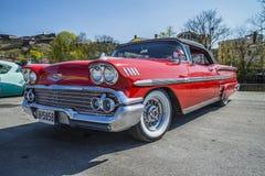 Chevrolet- Impalakabriolett 1958 Lizenzfreie Stockfotos