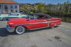 Chevrolet- Impalakabriolett 1958 Lizenzfreies Stockbild