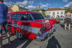 1957 Chevrolet koczownika Stacyjny furgon Zdjęcia Stock