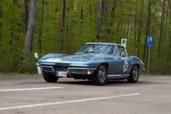 1964 Chevrolet-Korvet C2 bij ADAC Wurttemberg Historische Rallye 2013 Royalty-vrije Stock Foto