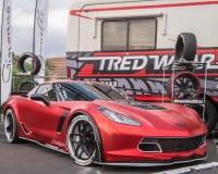 Chevrolet-Korvet, de Marktvereniging SEMA van het Specialiteitmateriaal Royalty-vrije Stock Foto