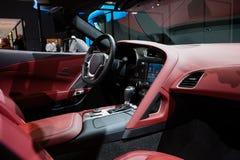 Chevrolet-Korvet in Genève Stock Afbeeldingen