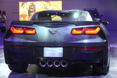 Chevrolet-Korvet 2014 Pijlstaartrog Royalty-vrije Stock Foto's