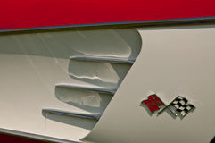 1957 Chevrolet-Korvet zijdetail Royalty-vrije Stock Foto