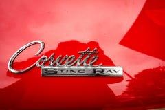 1963 Chevrolet-Korvetpijlstaartrog Stock Afbeelding