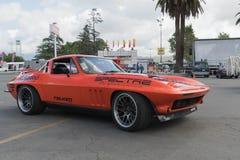 Chevrolet-Korvetpijlstaartrog op vertoning Royalty-vrije Stock Fotografie
