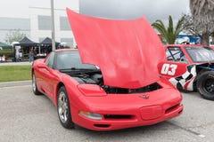 Chevrolet korweta 2002 na pokazie Zdjęcia Stock