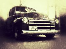 Chevrolet lastbil 1953 Fotografering för Bildbyråer