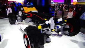 Chevrolet Lego Batmobile antepedium widok Fotografia Royalty Free