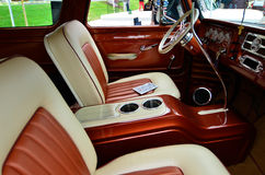 Luxurious vehicle interior Stock Photos