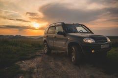 Chevrolet Niva på på Fotografering för Bildbyråer