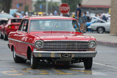 Chevrolet Nova car on display. Woodland Hills, CA, USA - July 5, 2015: Chevrolet Nova car on display at the Supercar Sunday car event Royalty Free Stock Image