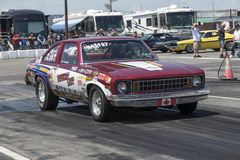 Chevrolet nova at the starting line Stock Photography
