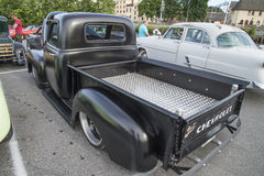 1950 Chevrolet 3100 Pickup. Every Wednesday during the months of May to August there is a veteran car meeting with American cars at the fish market in Halden stock photo