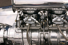 Chevrolet Racing Engine. Racing engine in a show car at the Tucson, Arizona, classic car show Stock Image