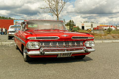 Chevrolet in red Stock Photography