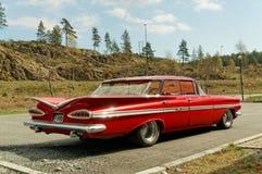 Chevrolet in red Stock Photo