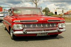 Chevrolet in rood Stock Foto's