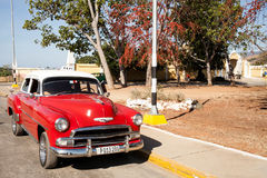 Chevrolet 1950's. Trinidad, Cuba - 22 January, 2015: an old 1953 Chevrolet, car parked in a street of Trinidad historic center royalty free stock photography