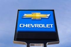 Chevrolet samochodu przedstawicielstwa handlowego znak Zdjęcia Royalty Free