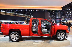 Chevrolet Silverado car on display at the Chicago Auto Show Royalty Free Stock Image