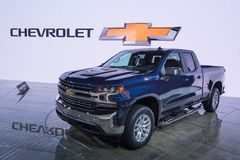 2019 Chevrolet Silverado LT, NAIAS Royalty Free Stock Images