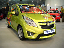 Chevrolet Spark car on Belgrade car show Stock Photos