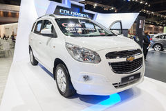 Chevrolet Spin. Nonthaburi,Thailand - March 26th, 2015: Chevrolet Spin,a mini MPV on display ,showed in Thailand the 36th Bangkok International Motor Show on 26 Royalty Free Stock Photo