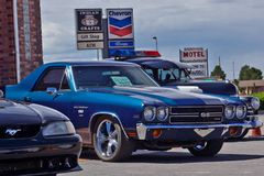 Chevrolet ss mięśnia klasyczny samochód fotografia royalty free
