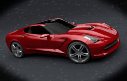 Chevrolet Stingray 2013 redesign. 3d model of chevy stingray c7 2013 redesigned by me.Made a lots of changes on rear view of the car.I hope so I didn't spoil vector illustration
