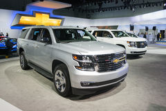 Chevrolet Suburban 2015 on display Royalty Free Stock Photos