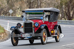 1925 Chevrolet Superior K Sedan. Adelaide, Australia - September 25, 2016: Vintage 1925 Chevrolet Superior K Sedan driving on country roads near the town of Stock Images