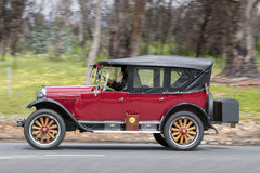 1925 Chevrolet Superior K Sedan. Adelaide, Australia - September 25, 2016: Vintage 1925 Chevrolet Superior K Sedan driving on country roads near the town of Royalty Free Stock Photo