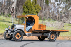 1926 Chevrolet Superior K Truck driving on country road. Adelaide, Australia - September 25, 2016: Vintage 1926 Chevrolet Superior K Truck driving on country Royalty Free Stock Images
