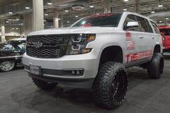 Chevrolet Tahoe op vertoning tijdens La Auto toont stock foto