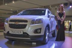 Chevrolet Tracker car model presentation Stock Images