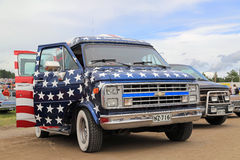 Chevrolet Van with American Flag design Royalty Free Stock Photo