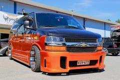 Chevrolet Van exprès dans une exposition Photographie stock